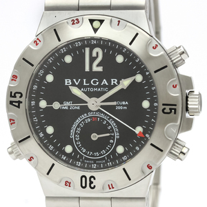 Bvlgari Diagono Automatic Stainless Steel Men's Sports Watch SD38S GMT