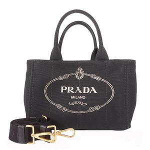 Prada Canapa BN1872 Women's Canapa,Canvas Handbag,Tote Bag Black