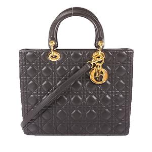 クリスチャン・ディオール(Christian Dior) レディディオール 2WAYバッグ 2WAY Bag レディース ハンドバッグ,ショルダーバッグ ブラック