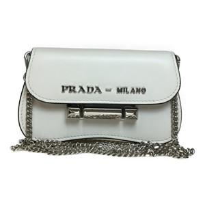 プラダ(Prada) 1DH013 ミニチェーン ポシェット Bianco(ビアンコ)