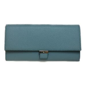 Auth Kate Spade Leather Long Wallet (bi-fold) Light Blue