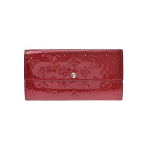 Louis Vuitton Monogram Vernis M93530 Monogram Vernis Long Wallet (bi-fold) Pomme D'amour