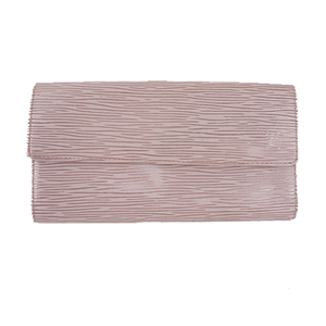 Auth Louis Vuitton Epi M6338B Long Wallet (tri-fold) lilac