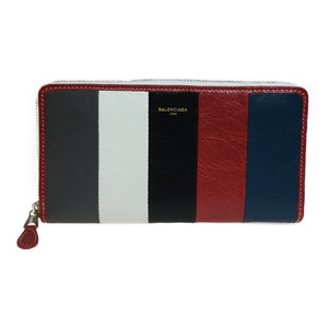 Auth Balenciaga 443655 Bazar Continental Leather Long Wallet (bi-fold) Multi-color