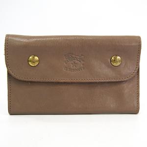 Il Bisonte Unisex  Calfskin Middle Wallet (bi-fold) Grayish