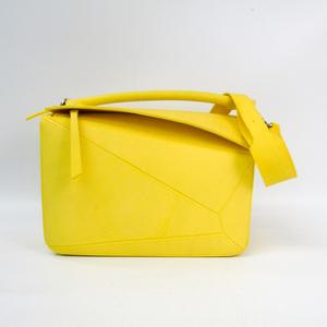 Loewe Puzzle Women's Rubber Handbag Yellow