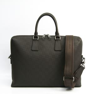 ルイ・ヴィトン(Louis Vuitton) ダミエアンフィニ ポルト・ドキュマン・ジュール PDJ  N41390 メンズ ブリーフケース バサルト
