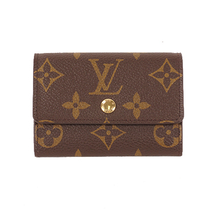 Louis Vuitton Monogram Porte Monnaie Plat M61930 Unisex Monogram Coin Purse/coin Case Brown