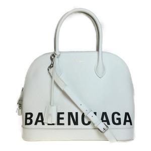 バレンシアガ(Balenciaga) 519036 ビルトップハンドルM レザー ハンドバッグ ショルダーバッグ ホワイト