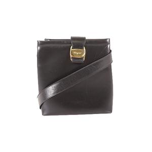 Salvatore Ferragamo Vara Shoulderbag Women's Leather Shoulder Bag Black