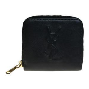 Auth Yves Saint Laurent 352906 Leather Wallet (bi-fold) Black