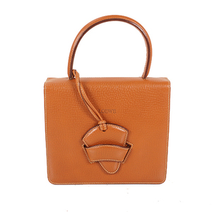 Loewe Barcelona Handbag Women's Leather Handbag Brown