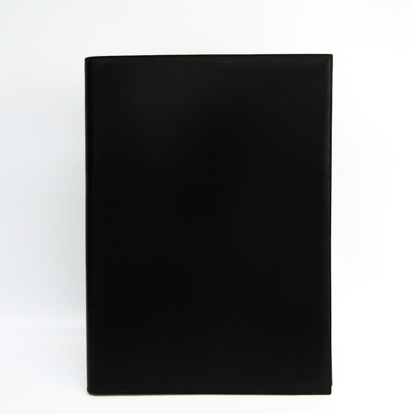 Hermes Box Calf Leather Notebook Noir