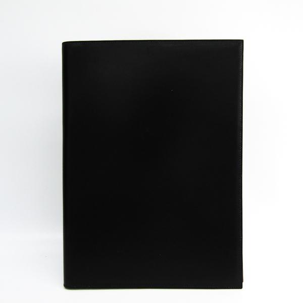 エルメス(Hermes) ボックスカーフ ノートブック ノワール