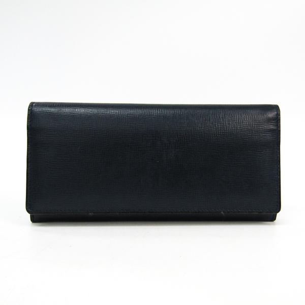 Valextra V8L42  Calfskin Long Wallet (bi-fold) Navy