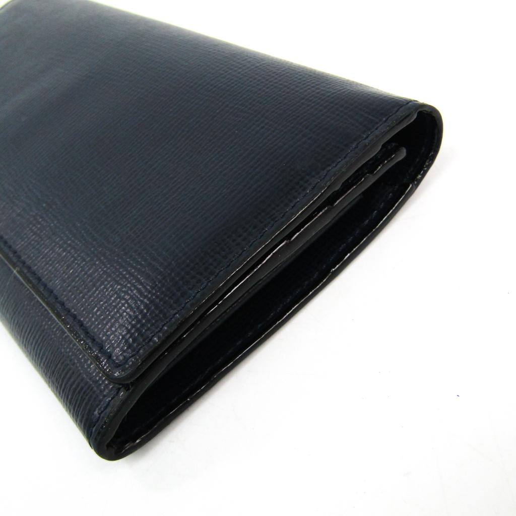 ヴァレクストラ(Valextra) V8L42  カーフスキン 長財布(二つ折り) ネイビー