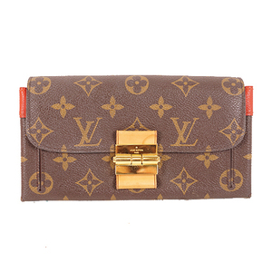 Auth Louis Vuitton Long Wallet Monogram Portefeuille Elles M60505