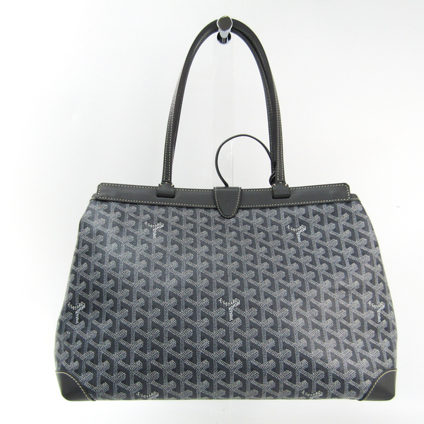 Goyard Bellechasse PM Canvas,Leather Handbag Gray