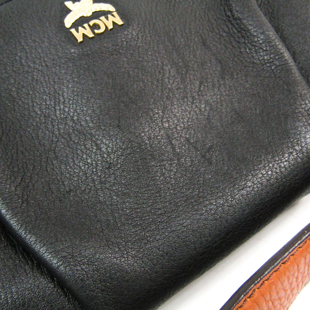 エムシーエム(MCM) MWS1AIE81 レディース レザー ハンドバッグ ブラック,ブラウン