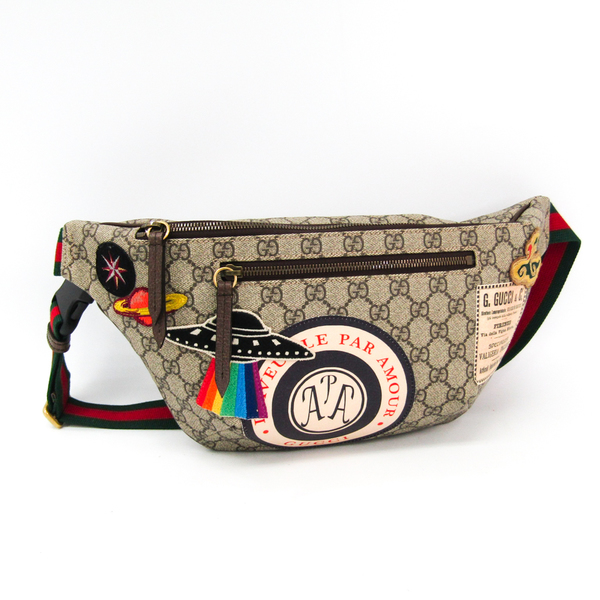 Gucci Gucci Courier GG Supreme Belt Bag 529711 Unisex GG Supreme,Webbing Fanny Pack,Shoulder Bag Beige,Brown