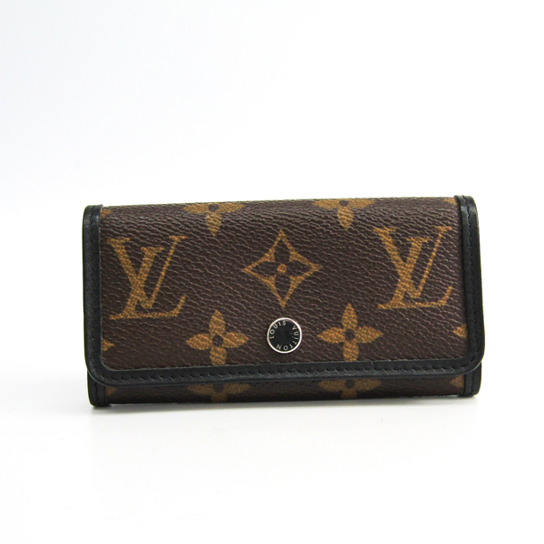 Louis Vuitton Monogram Macassar 6 Key Holder M60165 Men's  Key Case Black,Monogram