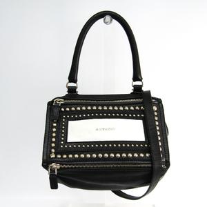 ジバンシィ(Givenchy) パンドラ スモール スタッズ レディース レザー ハンドバッグ,ショルダーバッグ ブラック,ホワイト