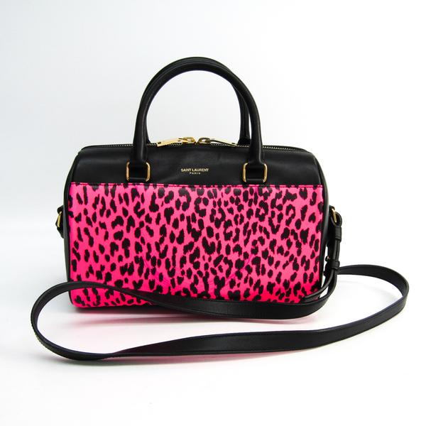 Saint Laurent Baby Duffle 330958 Women's Leather Handbag,Shoulder Bag Black,Pink