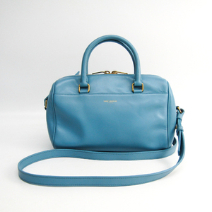 Saint Laurent Baby Duffle 330958 Women's Leather Handbag Blue