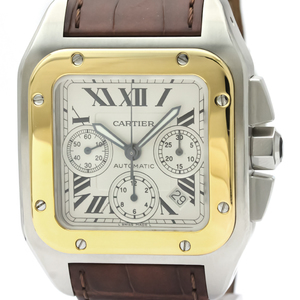 Cartier Santos 100 Automatic Stainless Steel,Yellow Gold (18K) Men's Sports Watch W20091X7