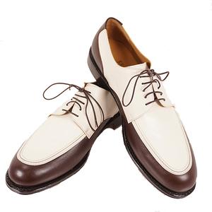 Salvatore Ferragamo Men's Shoes (Brown,White) Golf shoes