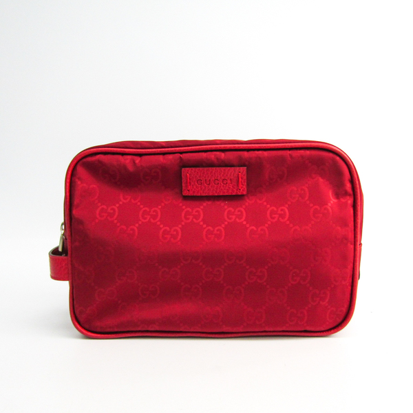 Gucci 510338 Unisex Nylon,Leather Clutch Bag Red