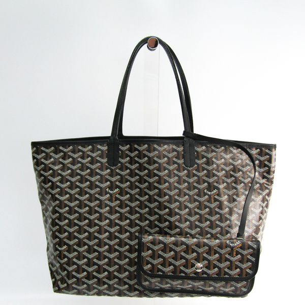 Goyard Saint Louis PM Women's Leather,Canvas Tote Bag Black