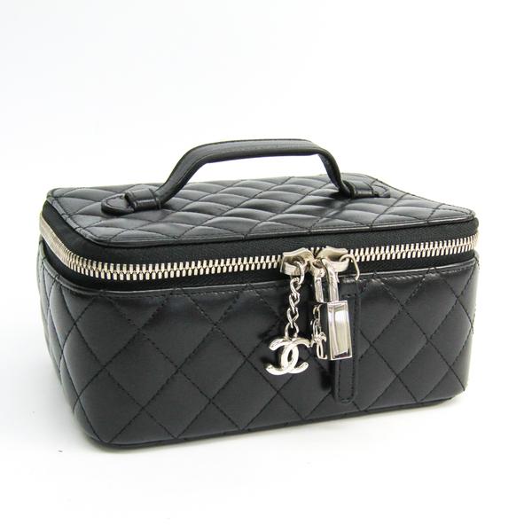 シャネル(Chanel) ジュエリーケース ブラック レザー