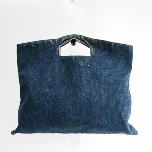 シャネル(Chanel) デニム レディース デニム ハンドバッグ ブルー