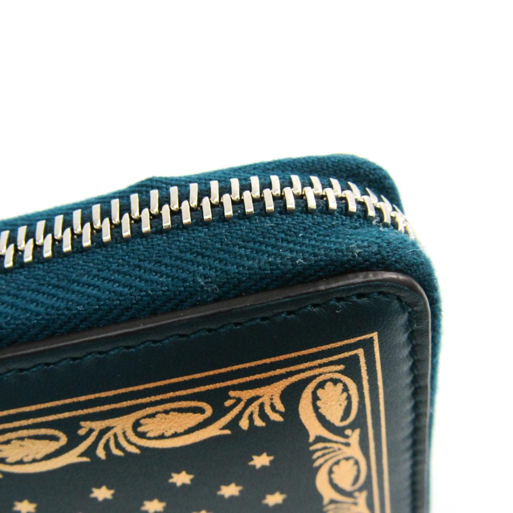 グッチ(Gucci) GUCCYロゴ 新宿店限定 524338 ユニセックス  カーフスキン 長財布(二つ折り) ゴールド,グリーン