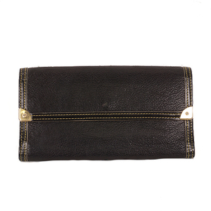 Auth Louis Vuitton Long Wallet Suhali M91836 Noir