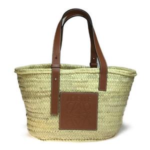 Auth Loewe Basket Bag Handbag Beige