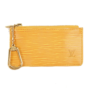 Louis Vuitton Epi M63802 Men,Women,Unisex Epi Leather Coin Purse/coin Case Jaune