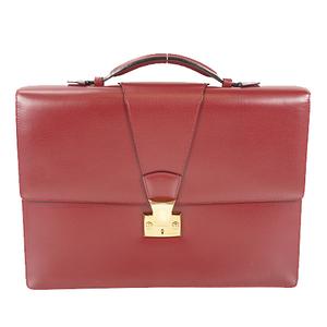 Cartier Pasha ブリーフケース Brief Case Men's Leather Briefcase Bordeaux