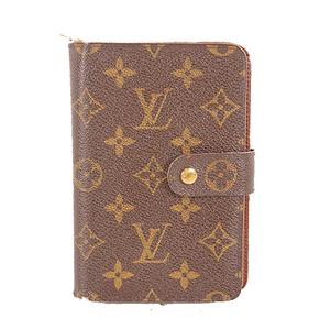 Auth Louis Vuitton Monogram M61207 Unisex,Women,Men Leather,Monogram Wallet