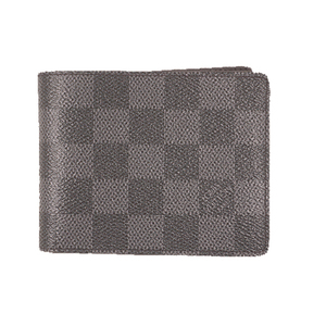 Auth Louis Vuitton Damier Graphite N64002  Wallet (bi-fold) Portefeuille slender
