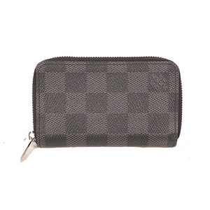 Louis Vuitton Damier Graphite N63076 Men's Leather,Damier Canvas Coin Purse/coin Case Black,Gray