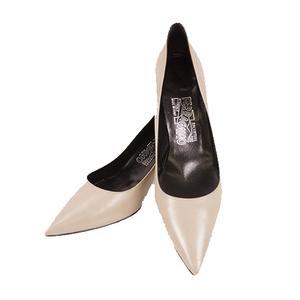 Auth Salvatore Ferragamo Women's Shoes pumps Leather Gray
