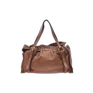 Miu Miu Leather Shoulder Bag Brown
