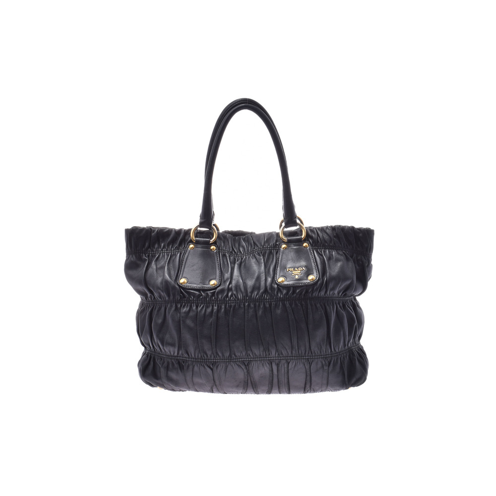 プラダ(Prada) 2way handbag レザー バッグ ブラック
