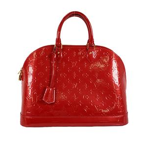 Louis Vuitton Monogram Vernis M93596 Women's Handbag Pomme D'amour