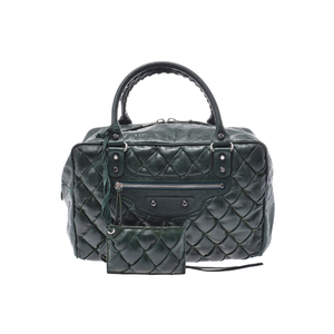 Balenciaga Matelasse Leather Bag Green