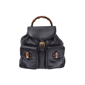 Gucci Bamboo Leather Bag Black