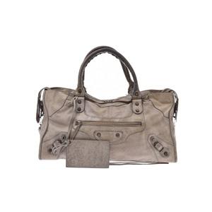 Balenciaga Part Time Leather Bag Gray
