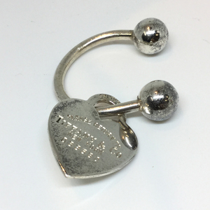 Tiffany Return ToTiffany Heart Tag Keyring (Silver)